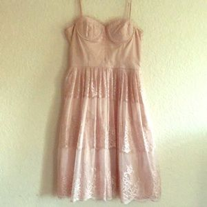 Soft pink cocktail dress